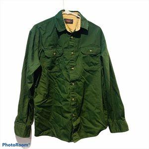 WRANGLER Green Work Button Down Shirt